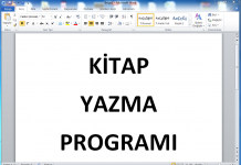 kitap yazma programı